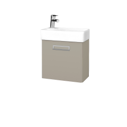 Dreja - Kúpeľňová skriňa DOOR SZD 44 - L04 Béžová vysoký lesk / Úchytka T39 / L04 Béžová vysoký lesk / Pravé (151669GP)