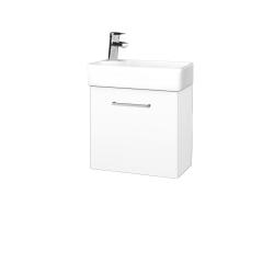 Dreja - Kúpeľňová skriňa DOOR SZD 44 - N01 Bílá lesk / Úchytka T04 / M01 Bílá mat / Levé (205027E)