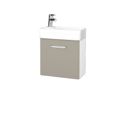 Dreja - Kúpeľňová skriňa DOOR SZD 44 - N01 Bílá lesk / Úchytka T01 / M05 Béžová mat / Levé (205034A)