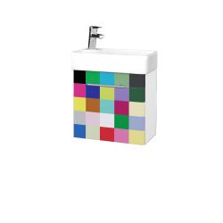 Dreja - Kúpeľňová skriňa DOOR SZD 44 - N01 Bílá lesk / Úchytka T02 / IND Individual / Pravé (23969BP)
