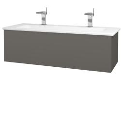 Dreja - Kúpeľňová skriňa VARIANTE SZZ 120 (umývadlo Euphoria) - N06 Lava / N06 Lava (190521U)