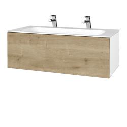 Dreja - Kúpeľňová skrinka VARIANTE SZZ 100 - N01 Bílá lesk / D09 Arlington (269258U)