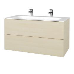 Dreja - Kúpeľňová skriňa VARIANTE SZZ2 100 - D02 Bříza / D02 Bříza (269463U)