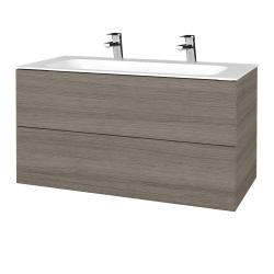 Dreja - Kúpeľňová skriňa VARIANTE SZZ2 100 - D03 Cafe / D03 Cafe (269470U)