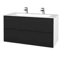 Dreja - Kúpeľňová skriňa VARIANTE SZZ2 100 - N01 Bílá lesk / N08 Cosmo (269852U)