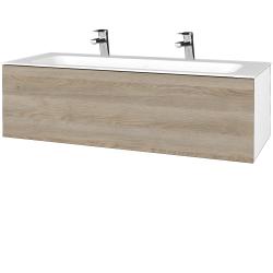 Dreja - Kúpeľňová skriňa VARIANTE SZZ 120 - N01 Bílá lesk / D17 Colorado (270230U)
