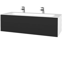 Dreja - Kúpeľňová skrinka VARIANTE SZZ 120 - N01 Bílá lesk / L03 Antracit vysoký lesk (270278U)