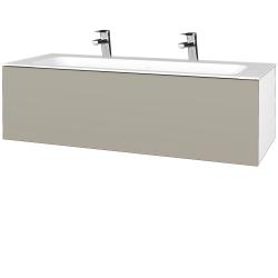 Dreja - Kúpeľňová skriňa VARIANTE SZZ 120 - N01 Bílá lesk / L04 Béžová vysoký lesk (270285U)