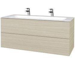 Dreja - Kúpeľňová skrinka VARIANTE SZZ2 120 - D04 Dub / D04 Dub (270421U)