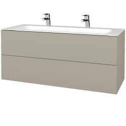 Dreja - Kúpeľňová skrinka VARIANTE SZZ2 120 - L04 Béžová vysoký lesk / L04 Béžová vysoký lesk (270551U)