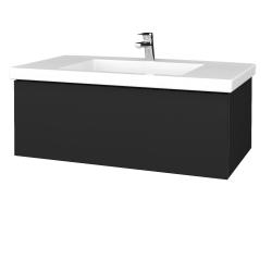 Dreja - Kúpeľňová skrinka VARIANTE SZZ 100 - L03 Antracit vysoký lesk / L03 Antracit vysoký lesk (274764)