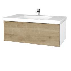 Dreja - Kúpeľňová skrinka VARIANTE SZZ 100 - N01 Bílá lesk / D09 Arlington (274887)