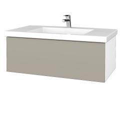 Dreja - Kúpeľňová skrinka VARIANTE SZZ 100 - N01 Bílá lesk / M05 Béžová mat (274948)