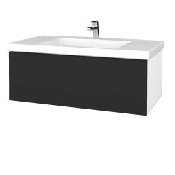 Dreja - Kúpeľňová skrinka VARIANTE SZZ 100 - N01 Bílá lesk / N03 Graphite (274986)