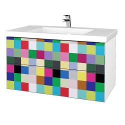 Dreja - Kúpeľňová skrinka VARIANTE SZZ2 100 - N01 Bílá lesk / IND Individual (275426)