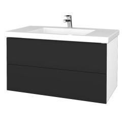 Dreja - Kúpeľňová skrinka VARIANTE SZZ2 100 - N01 Bílá lesk / N03 Graphite (275457)