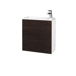 Dreja - Kúpeľňová skriňa VARIANTE SZD 50 - N01 Bílá lesk / D08 Wenge / Levé (327958)