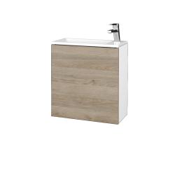 Dreja - Kúpeľňová skriňa VARIANTE SZD 50 - N01 Bílá lesk / D17 Colorado / Levé (328009)