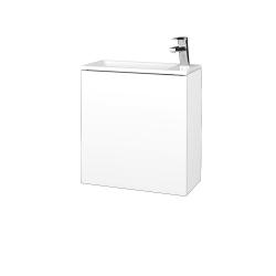 Dreja - Kúpeľňová skriňa VARIANTE SZD 50 - N01 Bílá lesk / L01 Bílá vysoký lesk / Levé (328108)