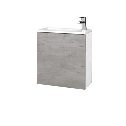 Dreja - Kúpeľňová skriňa VARIANTE SZD 50 - N01 Bílá lesk / D01 Beton / Levé (328115)