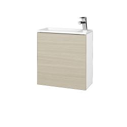 Dreja - Kúpeľňová skriňa VARIANTE SZD 50 - N01 Bílá lesk / D04 Dub / Pravé (339296P)