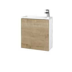 Dreja - Kúpeľňová skriňa VARIANTE SZD 50 - N01 Bílá lesk / D09 Arlington / Pravé (339333P)