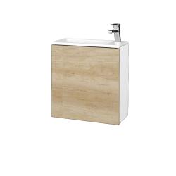 Dreja - Kúpeľňová skriňa VARIANTE SZD 50 - N01 Bílá lesk / D15 Nebraska / Pravé (339357P)