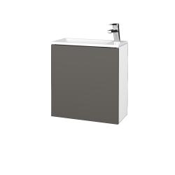 Dreja - Kúpeľňová skriňa VARIANTE SZD 50 - N01 Bílá lesk / N06 Lava / Pravé (339449P)