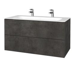 Dreja - Kúpeľňová skriňa VARIANTE SZZ2 100 - D16  Beton tmavý / D16 Beton tmavý (269555U)