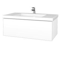 Dreja - Kúpeľňová skrinka VARIANTE SZZ 100 - M01 Bílá mat / M01 Bílá mat (274733)