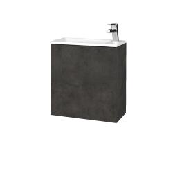 Dreja - Kúpeľňová skriňa VARIANTE SZD 50 - D16  Beton tmavý / D16 Beton tmavý / Levé (327798)