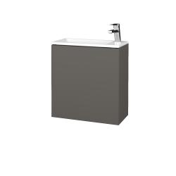 Dreja - Kúpeľňová skriňa VARIANTE SZD 50 - N06 Lava / N06 Lava / Pravé (339241P)
