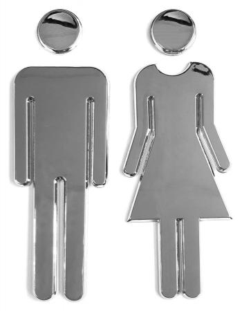 AQUALINE - WC označenie dámy/páni, pár, ABS/chrom (SB302)