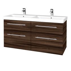 Dreja - Kúpeľňová skriňa Q MAX SZZ4 120 - D06 Ořech / Úchytka T02 / D06 Ořech (332198B)