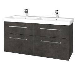 Dreja - Kúpeľňová skriňa Q MAX SZZ4 120 - D16  Beton tmavý / Úchytka T04 / D16 Beton tmavý (332242E)