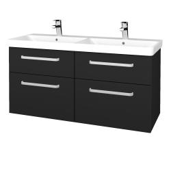 Dreja - Kúpeľňová skriňa Q MAX SZZ4 120 - L03 Antracit vysoký lesk / Úchytka T01 / L03 Antracit vysoký lesk (332297A)