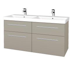 Dreja - Kúpeľňová skriňa Q MAX SZZ4 120 - L04 Béžová vysoký lesk / Úchytka T02 / L04 Béžová vysoký lesk (332303B)