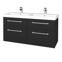 Dreja - Kúpeľňová skriňa Q MAX SZZ4 120 - N03 Graphite / Úchytka T03 / N03 Graphite (332310C)