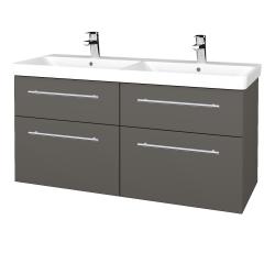 Dreja - Kúpeľňová skriňa Q MAX SZZ4 120 - N06 Lava / Úchytka T02 / N06 Lava (332327B)