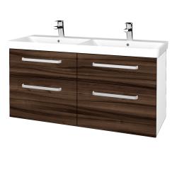Dreja - Kúpeľňová skriňa Q MAX SZZ4 120 - N01 Bílá lesk / Úchytka T01 / D06 Ořech (332396A)
