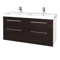 Dreja - Kúpeľňová skriňa Q MAX SZZ4 120 - N01 Bílá lesk / Úchytka T04 / D08 Wenge (332402E)
