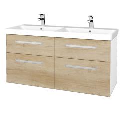 Dreja - Kúpeľňová skriňa Q MAX SZZ4 120 - N01 Bílá lesk / Úchytka T01 / D15 Nebraska (332433A)