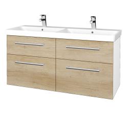 Dreja - Kúpeľňová skriňa Q MAX SZZ4 120 - N01 Bílá lesk / Úchytka T03 / D15 Nebraska (332433C)