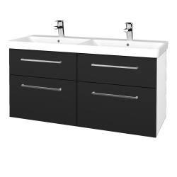 Dreja - Kúpeľňová skriňa Q MAX SZZ4 120 - N01 Bílá lesk / Úchytka T04 / L03 Antracit vysoký lesk (332495E)
