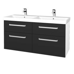 Dreja - Kúpeľňová skriňa Q MAX SZZ4 120 - N01 Bílá lesk / Úchytka T01 / N03 Graphite (332518A)