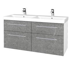 Dreja - Kúpeľňová skriňa Q MAX SZZ4 120 - N01 Bílá lesk / Úchytka T02 / D20 Galaxy (332594B)