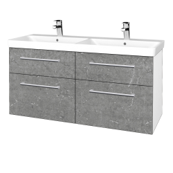 Dreja - Kúpeľňová skriňa Q MAX SZZ4 120 - N01 Bílá lesk / Úchytka T03 / D20 Galaxy (332594C)
