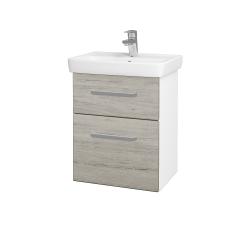 Dreja - Kúpeľňová skriňa GO SZZ2 50 - N01 Bílá lesk / Úchytka T01 / D05 Oregon (27974A)