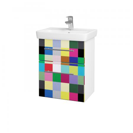 Dreja - Kúpeľňová skriňa GO SZZ2 50 - N01 Bílá lesk / Úchytka T02 / IND Individual (23815B)