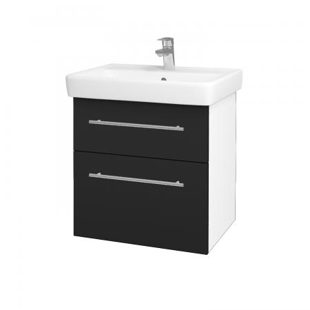 Dreja - Kúpeľňová skriňa Q MAX SZZ2 60 - N01 Bílá lesk / Úchytka T02 / L03 Antracit vysoký lesk (60100B)